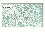 Kühlschrankmagnet Rom Italien Stadtkarte im Retro-Stil Illustration