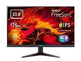 Acer VG240Y Gaming Monitor 23,8 Zoll (60 cm Bildschirm) Full HD, 75Hz HDMI/DP, 60Hz VGA, 1ms (VRB), 2xHDMI 1.4, VGA, HDMI/DP FreeSync