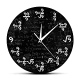 The Geeky Days Mathematische Wanduhr, Mathematik, Mathematik, Wanduhr, Mathematik, Mathematik, Wanduhr, Wanduhr, Wanduhr, Mathematik, 30,5 cm