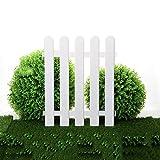 WXQIANG Gartenzaun, Kunststoff Land Corner Picket, 4er-Pack Patio Blumenbeet Rasen Border Bordüren, dekorative Zäune, Palisade Weiß, 40x50cm