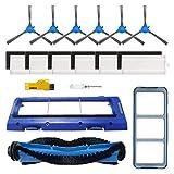 SOWOSALL Ersatzteile für RoboVac 11S, RoboVac 30, RoboVac 30C, RoboVac 15T, RoboVac 15C, RoboVac 12, RoboVac 35C Saugroboter Zubehör Kit Filter, Seitenbürsten, Rollbürste