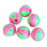 S/J 6 PCS/Pack Haarentfernung Dekontamination Magische Wäscheball Kleidung Haar Pilling Entfernen Magischer Ball 3,5 cm Kleidung Haarball Waschball