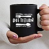 N\A Ernährungsberater Sprüche Ernährungsberater 11oz Schwarze Kaffeetasse Tasse, personalisierte Keramik Teebecher Getränkebecher für Thanksgiving, Weihnachten, Home & Office, Geburtstag