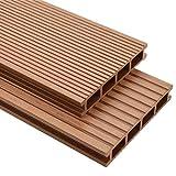 vidaXL WPC Terrassendielen 25m² 25mm 4m Komplettbausatz Komplettset Holz D