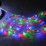 YJYDD LED Lichterschlauch Lichterkette Lichtschlauch Lichtleiste 10/20/30M Innen Außen (Color : Bunt, Size : 20M)