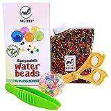 Meilef Starterset 50000 Aquabeads + 2 Zangen zum Sortieren   ungiftig biologisch abbaubare Wasserperlen Fun für Kinder zum Spielen   Pflanzen Deko in Regenbogen Farben als Geschenk Box für Geburtstag