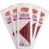 Spanische Salami Snacks - Salami Sticks - ideale Ergänzung zu Ihrer Paleo- oder Keto-Diät - reich an Protein in 5 Packungen à 60g (300g) - Gluten Free