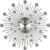 TW24 Küchenuhr - Bürouhr - Uhr - Moderne Designer Quartz Wanduhr Gerade - Silb