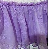 Bettrock Rüge Bettrock Blumen Dekor Bettrock für Hochzeitsbeleuchtung Spitze Bett Rock Elastische Bettdecke Bettdecken ohne Oberfläche Für zu Hause, Hotel ( Color : Purple , Size : 120x200x40cm )