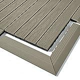 Dura Deck Tile Resist – Verbunddeck-Fliesen-Eck-Rampen – massives WPC ineinandergreifend, wasser- und UV-beständig, schnelle Installation – verwitterte Zeder, 4 Stück pro Packung