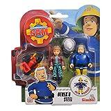 Simba Derek & Steele   Feuerwehrmann Sam   Spiel Figuren Set Toys