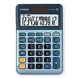 CASIO Tischrechner MS-120EM, 12-stellig, Währungsumrechnung, Cost/Sell/Margin, Aluminiumfront, Solar-/Batteriebetrieb