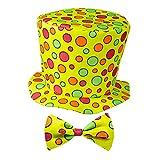 Widmann 91432 - Clown-Hut mit Fliege, 2-tlg. Set, für Kinder, Zirkus, Geburtstag, Kostüm, Accessoire, Mottoparty, Karneval