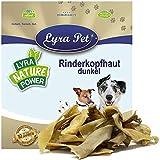 Lyra Pet® 5 kg Rinderkopfhaut 5000 g Goldbraun Kaustreifen Kausnack Leckerli Hundefutter