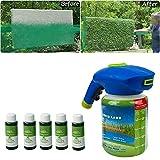 Hydro Mousse Rasen, Rollrasen Kaufen Hydro Mousse Sprührasen für Garten ( Sprühflasche Und Flüssigformel ), Rasensamen Nachsaat für Schnelles Rasenwachstum (5 Flaschen)