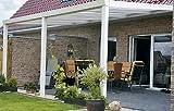 ALU Terrassenüberdachung 600x400cm wahlweise in 3 Farben Montagefertig Überdachung Vordach Überdachung Aluminium Terrasse