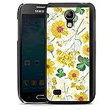 DeinDesign Hard Case kompatibel mit Samsung Galaxy S4 Mini Schutzhülle schwarz Smartphone Backcover Sonnenblume Muster Blumen