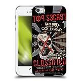 Head Case Designs Propagandaplakat klassifiziert Grafiken Soft Gel Handyhülle Hülle Huelle kompatibel mit Apple iPhone 5 / iPhone 5s / iPhone SE 2016