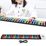 Roll-up-Klavier, E-Piano-Tastatur 128 Rhythmen USB-Ladefestival-Geschenk für Musikanfänger