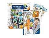 tiptoi Ravensburger Set: Wieso? Weshalb? Warum?   Unterwegs mit der Polizei (Kinderbuch) + 00036 Der Stift - WLAN-Edition + 2X Create-Sticker
