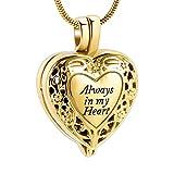 NIUBKLAS Asche Anhänger Einäscherung Medaillon Halskette für Asche des geliebten Andenken halten Zylinder Denkmal Urne Schmuck