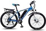 Elektrofahrrad Mountainbike 26 '' Elektrische Fahrräder für Erwachsene Magnesium-Legierungs-Fahrräder Fahrräder Alle Terrain-Herren Mountainbike 36V 350W Elektrisches Fahrrad 30-Gang-Gang und drei Arb