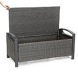 VBARV Premium Garden Storage Seat, Garden Storage Sitzbank, Easy Clean & Fade Free, geeignet für die Aufbewahrung im Innen- und Außenbereich (83 Liter Fassungsvermögen)