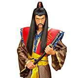 NET TOYS Chinesenbart China Kunstbart klebend - schwarz Chinese Samurai Japaner Schnurrbart Asien Schnauzer Dschingis Khan Falscher Bart Mongole Faschingsbart