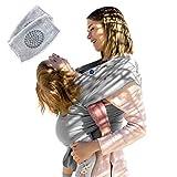 Unterstützender Babywickel,SECURE BEBE®, weiche Baumwolle Unterstützung Elastischer Baby-Tragetuch Neugeborene, freihändiges Tragen, Baby-Knieschutz mit den Knieschützern leicht anzupassen.