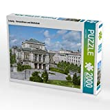 CALVENDO Puzzle Leipzig - Gewandhaus und Bibliothek 2000 Teile Lege-Größe 90 x 67 cm Foto-Puzzle Bild von André Tetsch