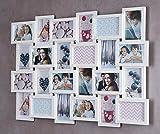 levandeo Holz Bilderrahmen 57x84cm für 24 Fotos Format 10x15cm Glasscheiben in Farbe: Ahorn Weiß