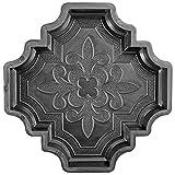 @tec Betonform Schalungsform Gießform Polypropylen (Kunststoff) - Gehwegplatte/Terrassenplatte französische Lilie Orient 29.5x29.5x4.5