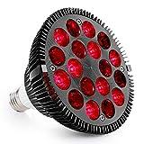 Tecanne Rotlichttherapie-Lampe, 18 LEDs, Infrarot-Lichttherapiegerät, 660 nm Rot und 850 nm Infrarot-Glühbirne für Gesicht, Hautgesundheit und Schmerzlinderung