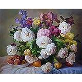 DIY Gemälde nach Zahlen Blumen Leinwand Zeichnung Figur Ölgemälde Handgemaltes Wohnkultur Geschenk A14 50x70
