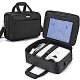 CURMIO Beamertasche für Beamer, Projektor Reisetasche mit Separatem Fach für Laptop, Beamer Tasche für die Meisten Projektoren und Zubehör, Ohne Zubehör Enthalten, Schwarz (PATENT Design)