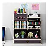 AWYST Schreibtisch-Organizer für Bleistifte, Dokumente, Bücher, Bürobedarf, Bücherregale (Farbe: schwarz)