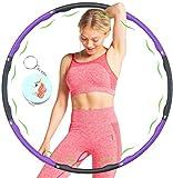 SYCEZHIJIA Fitness Hula-Reifen für Gewichtsverlust Houlahoop Fitness-Reifen mit Schaumgewichten einstellbar 1 kg Breite 19-37 in Gewicht-Purple 3 0325