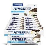 Energybody Fitness Bar Energieriegel Kohlenhydrat Riegel mit Eiweiß und Vitamine für Ausdauer Kraftsport und Sport, 24 Riegel à 35 g, Kokos Geschmack