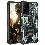 FMPCUON Hülle für Motorola Moto G Play 2021, für Motorola Moto G Play 2021 Handyhülle, 360 Grad Armor Panzerhülle Heavy Duty Schutzhülle mit Ständer Case Cover - (Product) Hellgrün