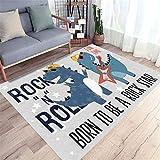 MMHJS Einrichtungsgegenstand Moderner Einfacher Cartoon-Muster-Kinderzimmer-Teppich Rechteckiger Teppich Nachtteppich 160x200