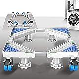 Waschmaschine Sockelbasis, Chassis Mit Bremsbad Universal Mit 4 × 2 Schwenkrädern Bremse Und 4 Einstellbare Stützbeine Für Trockner, Waschmaschine Kühlschrank