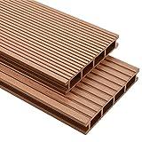 VIENDADPOW Fußböden Teppichböden WPC Terrassendielen mit Zubehör 35 m² 4 m Braun