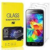 LAFCH Panzerglas Schutzfolie Kompatibel mit Galaxy S5 Mini, 3 Stück Ultra Klar Abdeckung Gehärtetem Glas Displayschutzfolie für Samsung Galaxy S5 Mini, Anti-Kratzer, Blasenfreie