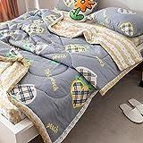 CHOU DAN Sommerdecke 200x220,Bettbezug 140x 200,Baumwollsommer-Klimaanlage Ist Im Sommer Anspruchsvoll-150x200cm Sommer Ist * 1_2
