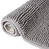 Lifewit rutschfeste Badematte 50x80cm Badteppich aus Mikrofaser Chenille Teppich für Badezimmer G