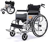 CENPEN Rollstuhl / Rollstuhl / Rollstuhl / Rollstuhl, zusammenklappbar, tragbar, für ältere Menschen mit Behinderung