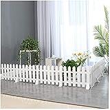 Gartenzaun Holzzaun Gartenzaun Staketenzaun Rasenkante Beeteinfassungen Innen- Draussen Dekorativ PVC Kunststoff Tier Barriere - Weiß, 5 Größen (Color : 50x20cm, Size : 1 PC)