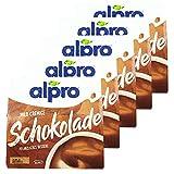 Alpro - 5er Pack Soja Dessert Schokolade Mildfein 500 g (4 x 125 g) - Soya Sojadessert Schoko Choco 100 % pflanzlich
