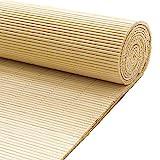 QYQS Rollo Fensterschatten Bambusjalousien Bambusschirme für Terrasse Sonnencreme Schattierrate 65% Bambusschirme Im Freien (wir Machen Individuelle Größe)(Size:50x120cm,Color:Takemoto-Farbe)