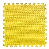 AQMMi Puzzle Foam Übungsboden Spielmatten ComFy Mat Foam Garage Übungshalle Play Home Office Beständige Oberfläche Wasserdicht 30 * 30CM (16 Stück) -gelb